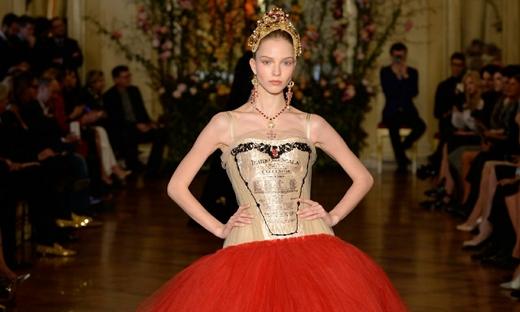 2015春夏高級定制[Dolce & Gabbana]米蘭時裝發布會