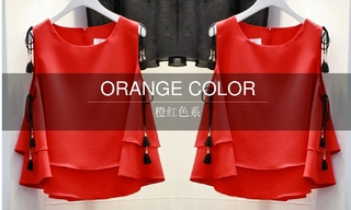 2016春夏橙紅色系(韓國東大門)零售分析