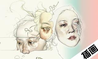 超现实主义混合媒体肖像插画家Haejung Lee