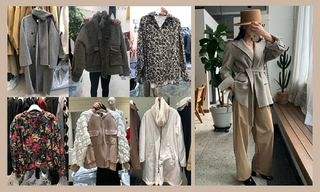 【韓國東大門】大衣|印花|輕熟